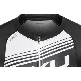 2XU Compression Sleeved Tri Top Men, black/white logo graphic